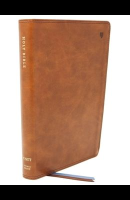 Net Bible, Thinline, Leathersoft, Brown, Indexed, Comfort Print: Holy Bible