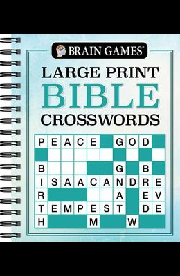 Brain Games Large Print Bible Crosswords