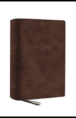 The Net, Abide Bible, Leathersoft, Brown, Comfort Print: Holy Bible