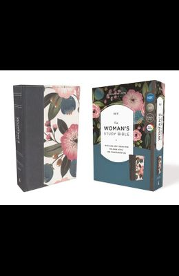 NIV, the Woman's Study Bible, Cloth Over Board, Blue Floral, Full-Color: Receiving God's Truth for Balance, Hope, and Transformation