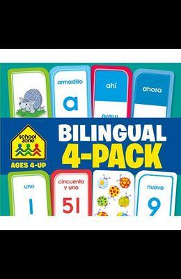 School Zone Bilingual 4-Pack Flash Cards