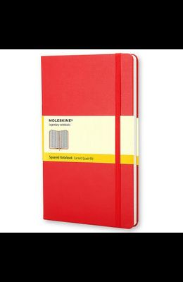 Moleskine Classic Notebook, Pocket, Squared, Red, Hard Cover (3.5 X 5.5)