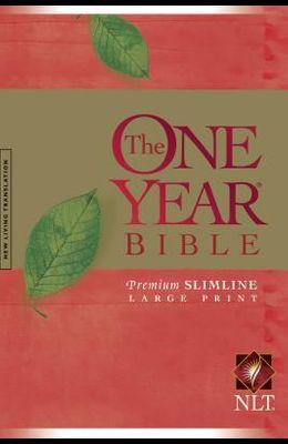 One Year Premium Slimline Bible-NLT-Large Print 10th Anniversary