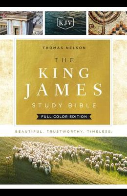 The King James Study Bible, Hardcover, Full-Color Edition
