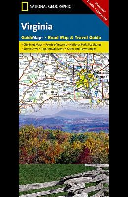 Virginia: Guidemap Road Map & Travel Guide