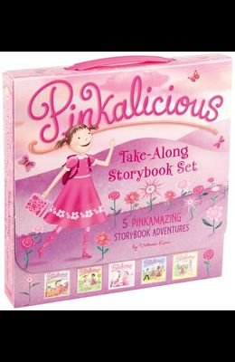 The Pinkalicious Take-Along Storybook Set: Tickled Pink, Pinkalicious and the Pink Drink, Flower Girl, Crazy Hair Day, Pinkalicious and the New Teache