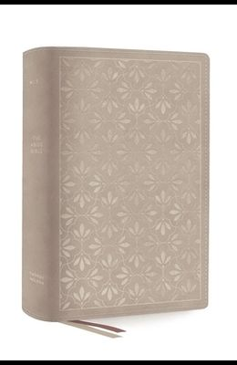 The Net, Abide Bible, Leathersoft, Stone, Comfort Print: Holy Bible