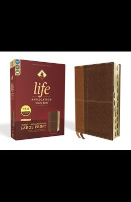 Niv, Life Application Study Bible, Third Edition, Large Print, Leathersoft, Brown, Indexed, Red Letter Edition