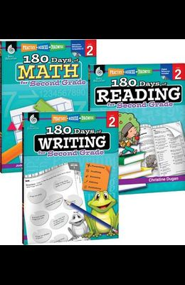 180 Days of Reading, Writing and Math for Second Grade 3-Book Set