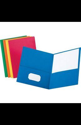 Twin-Pocket Folder, Embossed L