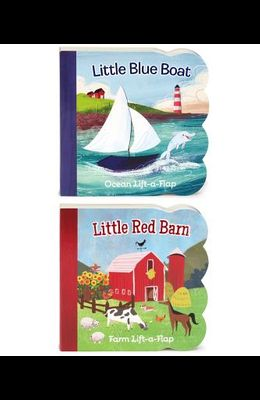 Little Red Barn and Little Blue Boat 2 Pack