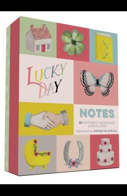 Lucky Day Notes: 20 Different Notecards & Envelopes