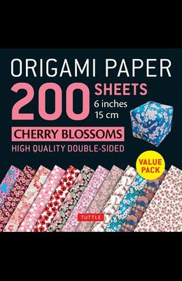 Origami Paper 200 Sheets Cherry Blossoms 6 (15 CM): Tuttle Origami Paper: High-Quality Double Sided Origami Sheets Printed with 12 Different Designs (