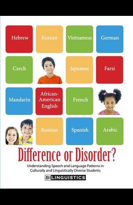Difference or Disorder: Understanding Speech and Language Patterns in Culturally and Linguistically Diverse Students