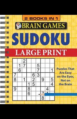 Brain Games - 2 Books in 1 - Sudoku