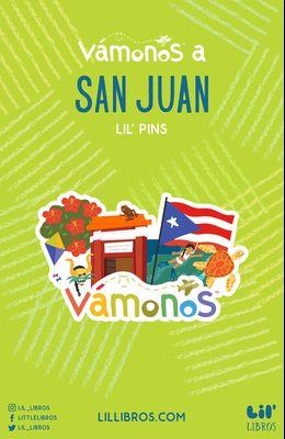 V?monos a San Juan Enamel Pin