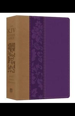 The KJV Study Bible - Large Print [violet Floret]