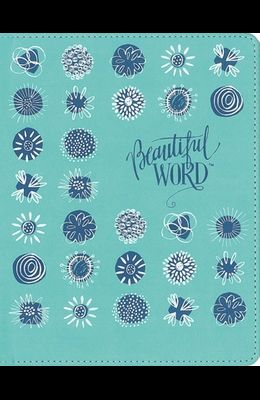 Niv, Beautiful Word Coloring Bible for Girls Pencil/Sticker Gift Set, Updated, Leathersoft Over Board, Teal, Comfort Print: 600+ Verses to Color