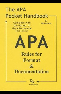 The APA Pocket Handbook: Rules for Format & Documentation