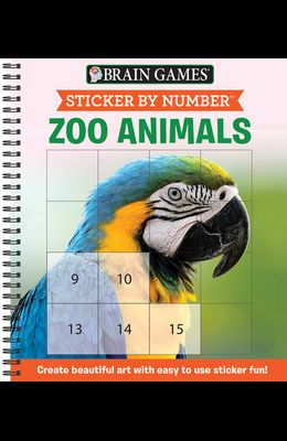 Sticker by Number: Zoo Animals