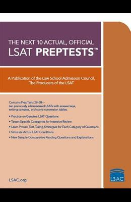 10 Next, Actual Official LSAT Preptests: (preptests 29-38)