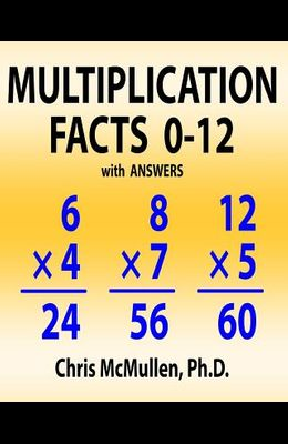 Multiplication Facts 0-12 with Answers: Improve Your Math Fluency Worksheets