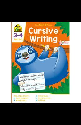 School Zone Cursive Writing Grades 3-4 Workbook