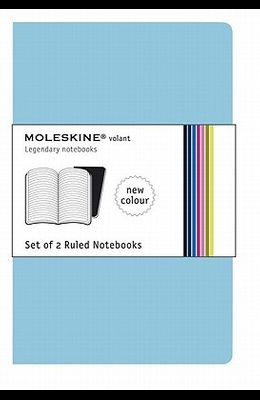 Moleskine Volant Notebook (Set of 2 ), Extra Large, Ruled, Sky Blue (7.5 X 10)