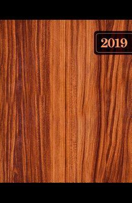Wochenplaner 2019: Terminplaner & Wochenkalender: 19 X 23 CM: Rustikales Holz 6712