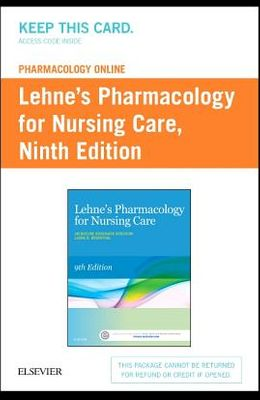 Lehne's Pharmacology Online for Pharmacology for Nursing Care (Access Card)