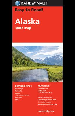 Rand McNally Easy to Read! Alaska State Map