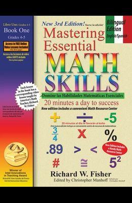 Mastering Essential Math Skills Book 1, Bilingual Edition - English/Spanish