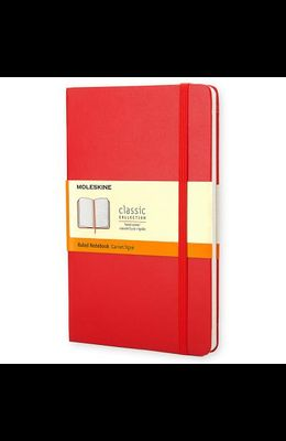 Moleskine Classic Notebook, Large, Ruled, Red, Hard Cover (5 X 8.25)