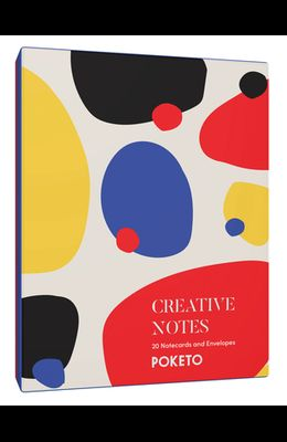 Creative Notes: 20 Notecards and Envelopes (Greeting Cards with Colorful Geometric Designs, Minimalist Everyday Blank Stationery for a