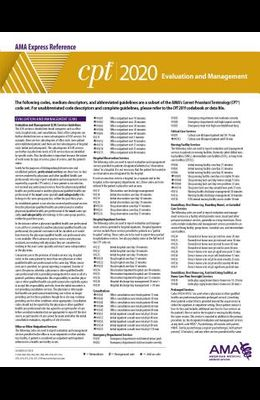 CPT 2020 Express Reference Coding Card: Evaluation and Management