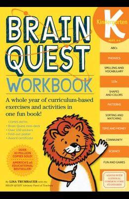 Brain Quest Workbook: Kindergarten [With Stickers]