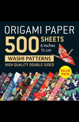 Origami Paper 500 Sheets Japanese Washi Patterns 6 (15 CM): High-Quality, Double-Sided Origami Sheets with 12 Different Designs (Instructions for 6 P