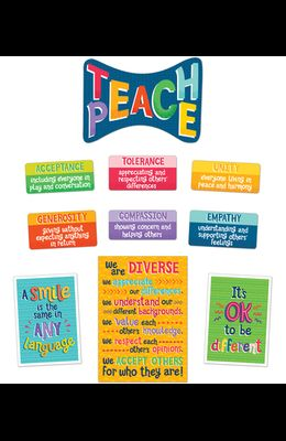 One World Teach Peace Bulletin Board Set