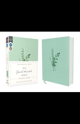 Niv, Journal the Word Bible, Double-Column, Cloth Over Board, Teal, Red Letter Edition, Comfort Print: Reflect, Take Notes, or Create Art Next to Your