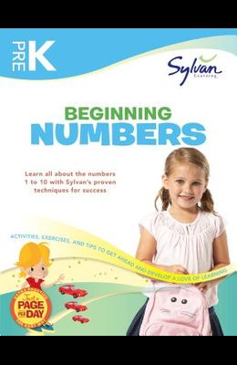Pre-K Beginning Numbers (Sylvan Workbooks) (Math Workbooks)