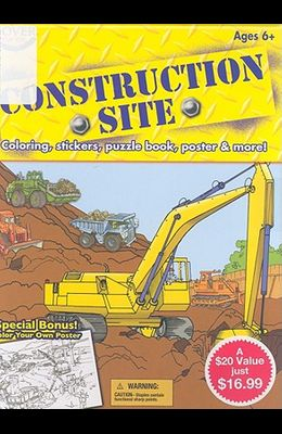 Construction Site [With Stickers and 6 Crayons and 6 Stencils and 4 Coloring Books]