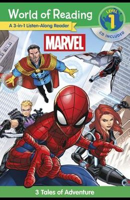 World of Reading Marvel 3-In-1 Listen-Along Reader: 3 Tales of Adventure [With Audio CD]