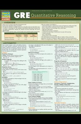 GRE - Quantitative Reasoning: Quickstudy Laminated Reference Guide