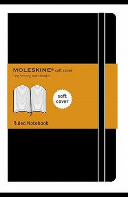 Moleskine Classic Notebook, Large, Ruled, Black, Soft Cover (5 X 8.25)