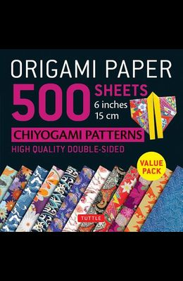 Origami Paper 500 Sheets Chiyogami Patterns 6 15cm: Tuttle Origami Paper: High-Quality Double-Sided Origami Sheets Printed with 12 Different Designs