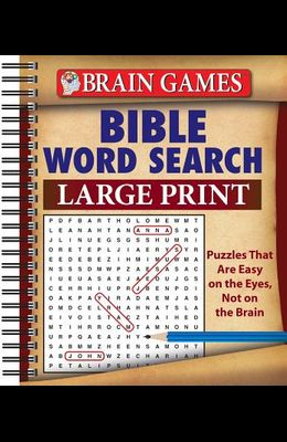 Brain Games Bible Word Search Large Print