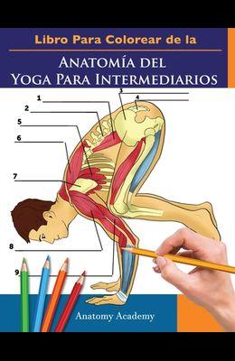 Libro Para Colorear de la Anatomía del Yoga Para Intermediarios: 50+ Ejercicios de Colores con Posturas de Yoga Para Intermediarios El Regalo Perfecto