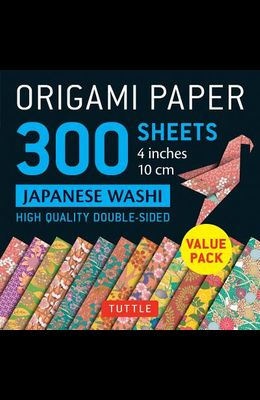 Origami Paper 300 Sheets Japanese Washi Patterns 4 (10 CM): Tuttle Origami Paper: High-Quality Double-Sided Origami Sheets Printed with 12 Different