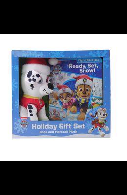 Nickelodeon Paw Patrol: Ready, Set, Snow! Holiday Gift Set: Book and Marshall Plush
