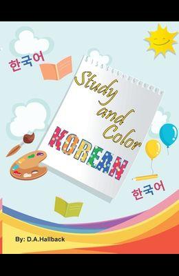 Study and Color The Korean Alphabet